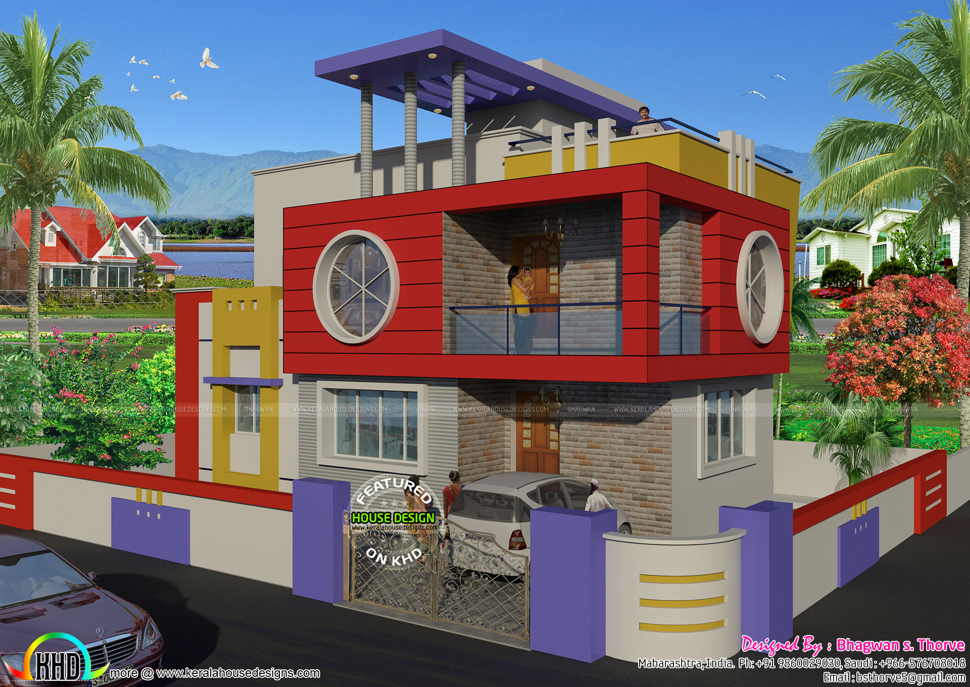 1515 sq ft north indian style home kerala home design for North indian house designs photos