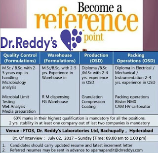 Dr reddy's interview