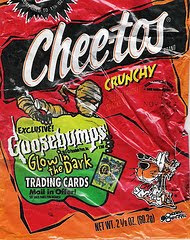 Chester Cheetah finds the kids' horror franchise Goosebumps to be frightening? Chester Cheetah is such a pussy.