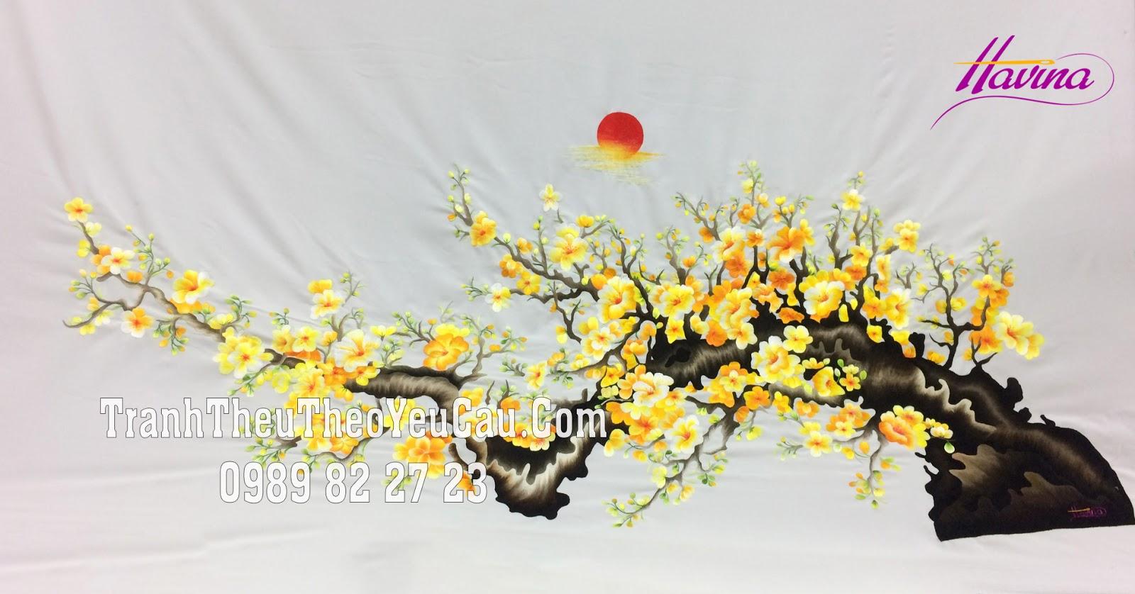 tranh hoa mai