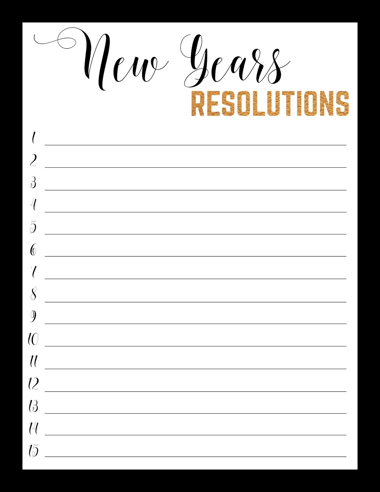 Tailored By Tiera Free Printable New Years Resolution Worksheet