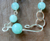 Caught you! (sterling silver, jade, chainmaille, wire wrapping) :: All Pretty Things