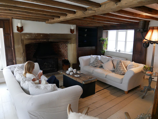 The cosy living area at Swan House B&B, Hastings
