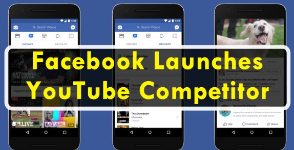 Facebook is launching a youtube competitor