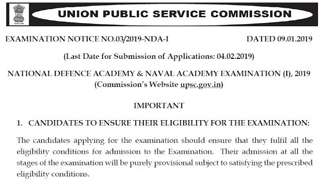 UPSC NDA NA Exam 2018