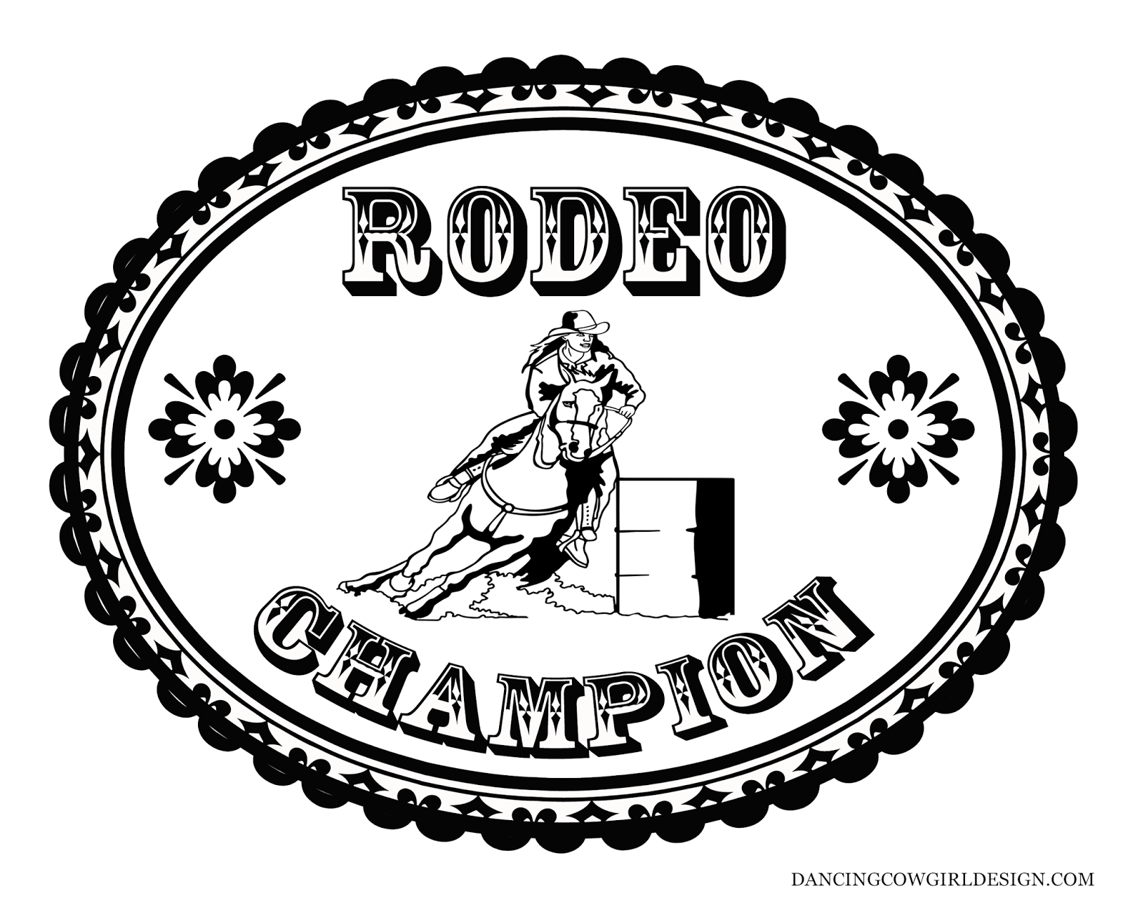 Rodeo Coloring Pages Coloring Sheet Cowgirl Rodeo Barrel