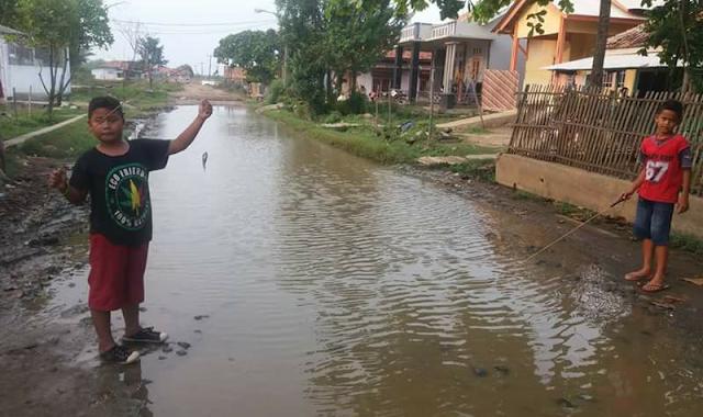 Jalan desa muara, blanakan subang terendam banjir