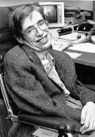 Stephen Hawing på 80-talet. NASA StarChild image of Stephen Hawking, Public Domain.
