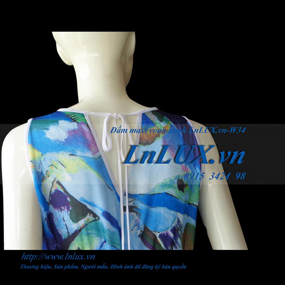 lnlux.vn-dam-maxi-voan-xanh-lnlux-w34-than-sau