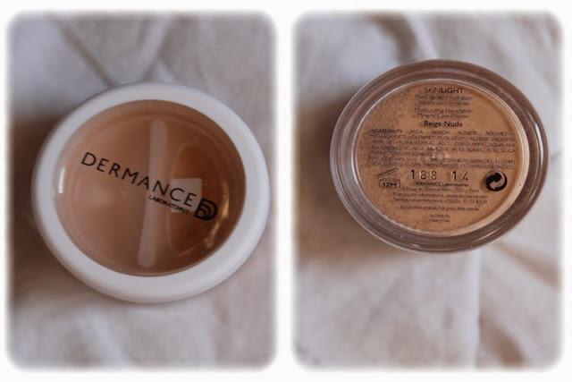 Fond de Teint Hydratant/Poudre-soin Minérale Nude Skinlight - Dermance Birchbox Septembre 2014