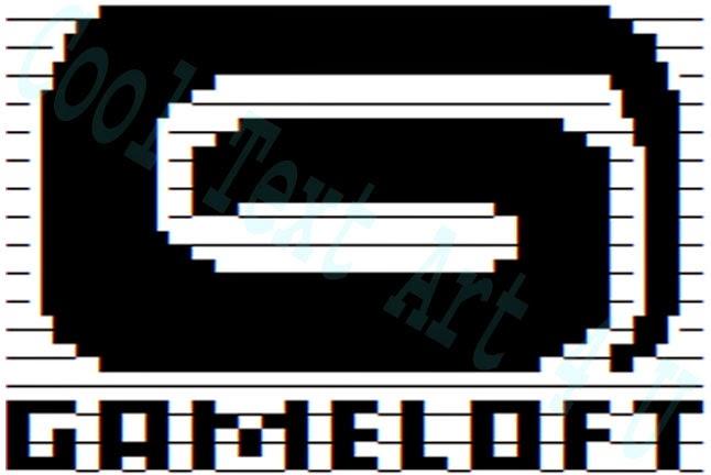 ascii art gameloft logo copy paste code