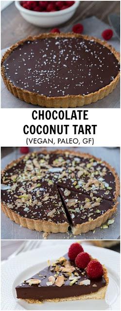 Chocolate Raspberry Coconut Almond Tart Recipe