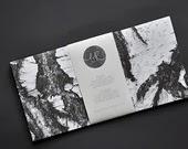 German paper goods ink wood stamp gift paper tag