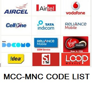 Mobile Operator MCC-MNC Codes List in India | Trikrs
