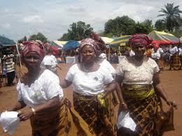 Nigeria women on wrapper