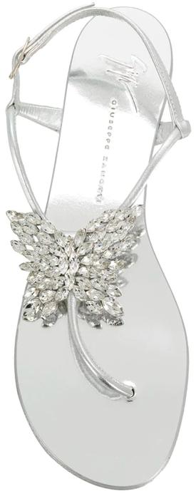 GIUSEPPE ZANOTTI embellished butterfly thong sandals