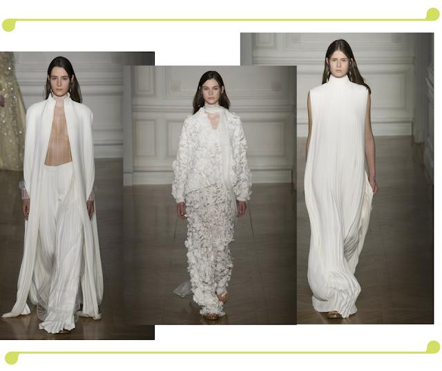 Largos diseños de blanco Valentino