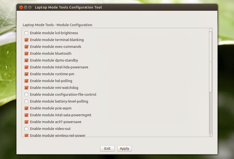 Install Laptop Mode Tools 1 64 With Configuration GUI In