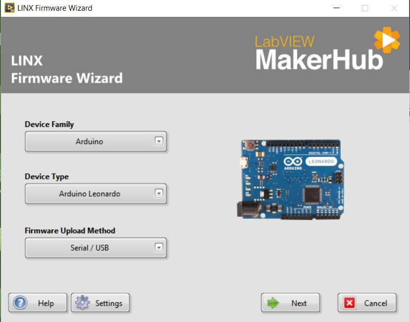 labwire: How to interface arduino with Labview Installation