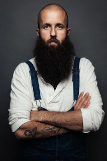 Long Beard Styles for Bald Men