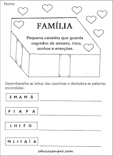 Tarefa sobre família