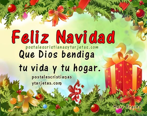 Imágenes bonitas de feliz navidad, tarjetas navideñas en diciembre 2016 para amigos, felices fiestas de navidad y año nuevo con buenos deseos  por Mery Bracho. Bellas postales con mensajes cristianos.