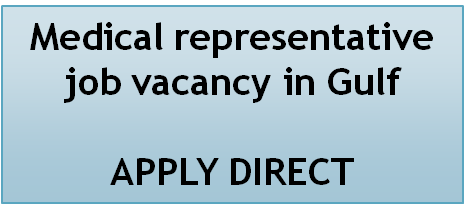 pharmjobs org: Medical representative job vacancy in Gulf