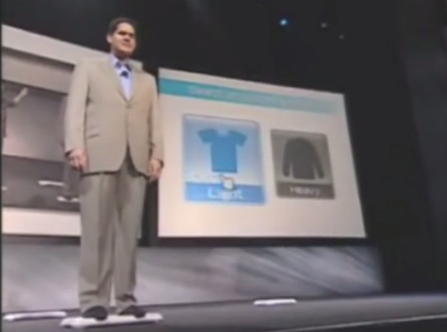 Reggie Fils-Aime Nintendo E3 2007 Wii Fit light heavy clothing