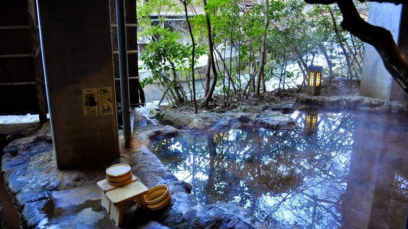 Hot spring bath at Kurokawa Onsen, Kyushu