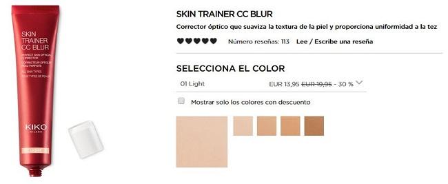 Skin Trainer CC Blur - productos más vendidos de Kiko