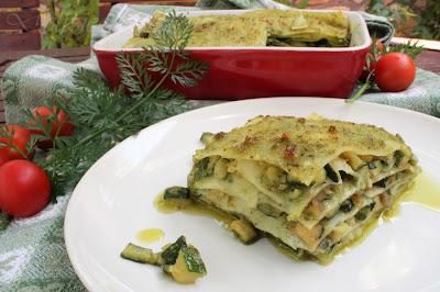 Lasagne in verde (con pesto vegano e zucchine)