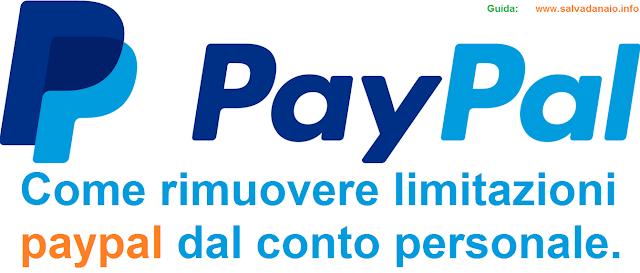 Come rimuovere le limitazioni paypal dal conto