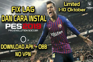 PES 2019 Mobile Beta Apk + Obb for Android