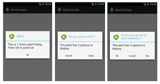 Alert Example in android