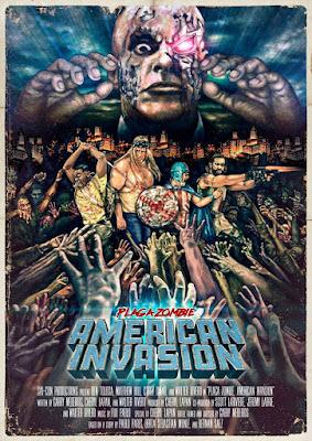 Plaga Zombie: American Invasion,Poster