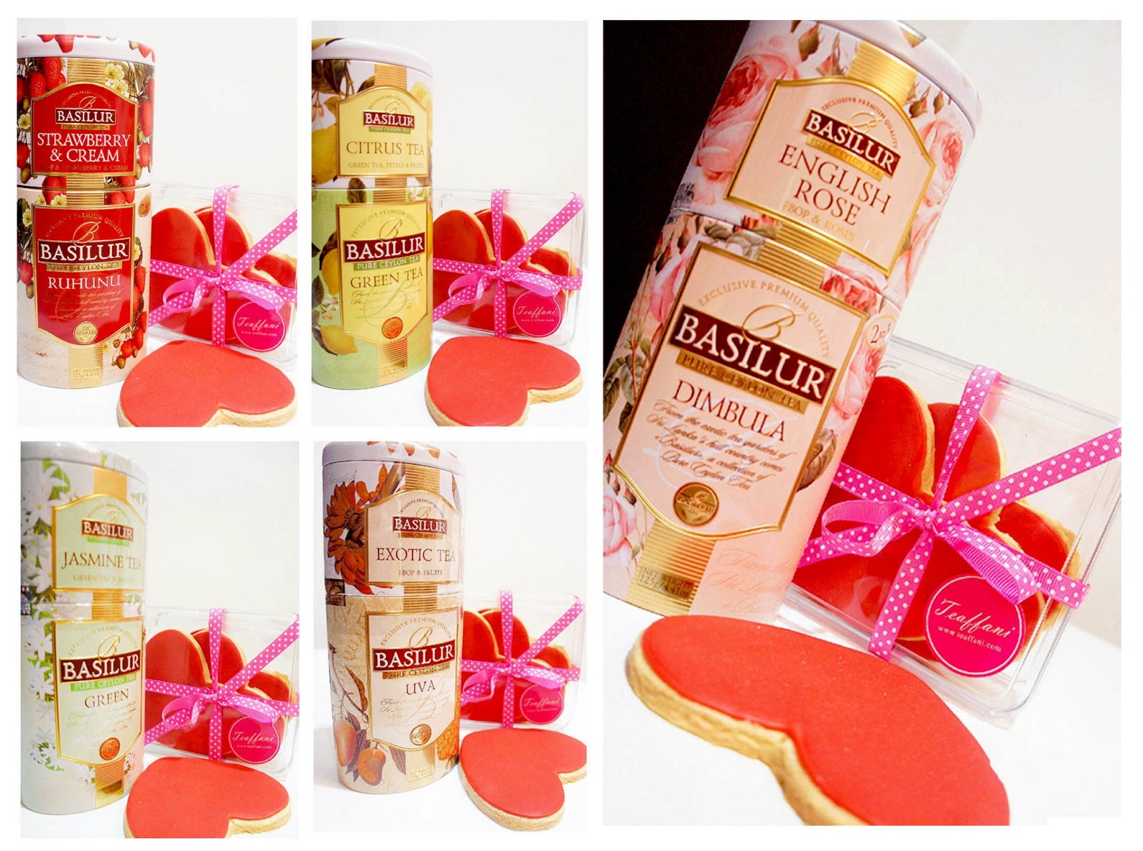 Teaffani Catering Valentines Day English Tea Cookies Gift Pack
