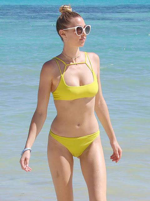 Whitney Port in Yellow Bikini in Cancun