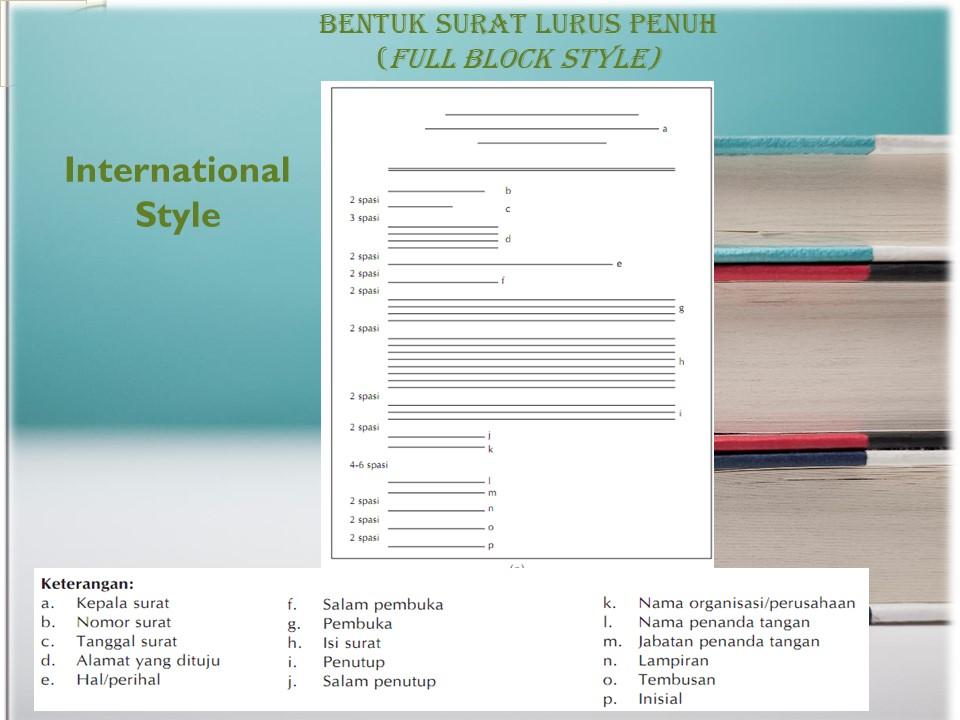 Let Us Study Bentuk Surat Lurus Penuh Full Block Style