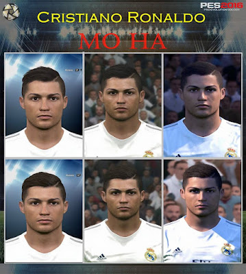 PES 2016 Cristiano Ronaldo Face by Mo Ha