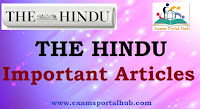 The Hindu's today Newspaper-  September 21, 2018 -  Important articles