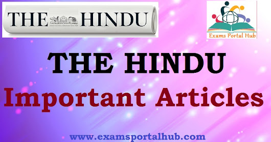 The Hindu's today Newspaper- October 5, 2018 - Important articles