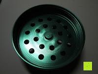 Rückseite: DCOU tabak schleifer Alu tobacco grinder tabak spice herb pollen anlage gras mühle 4 schichten aluminium crusher - Ø55mm H48mm grün