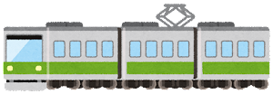 電車のイラスト(緑)