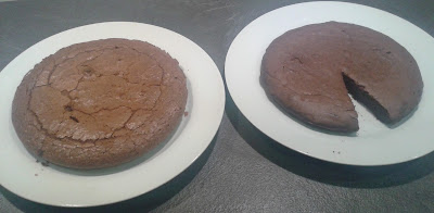 comparatif de deux gâteaux au chocolat