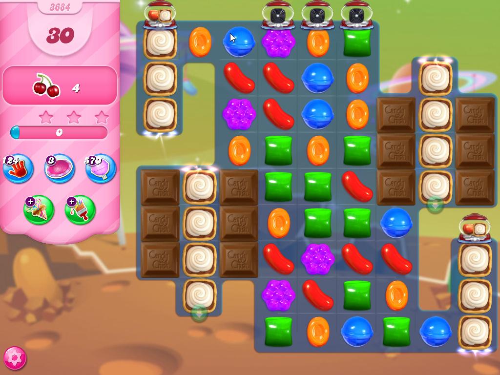 Candy Crush Saga level 3684