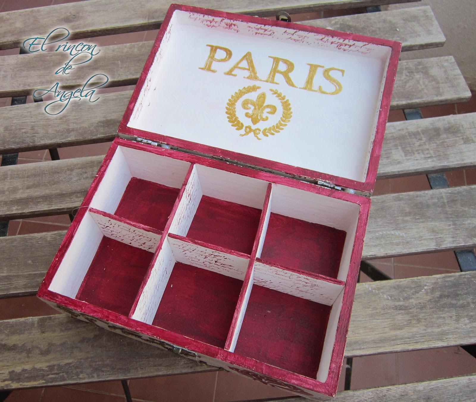 Decorar una caja de madera con relieves decapado y - Cajitas de madera para decorar ...
