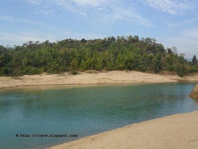 Lalakhal,Winter, blue river