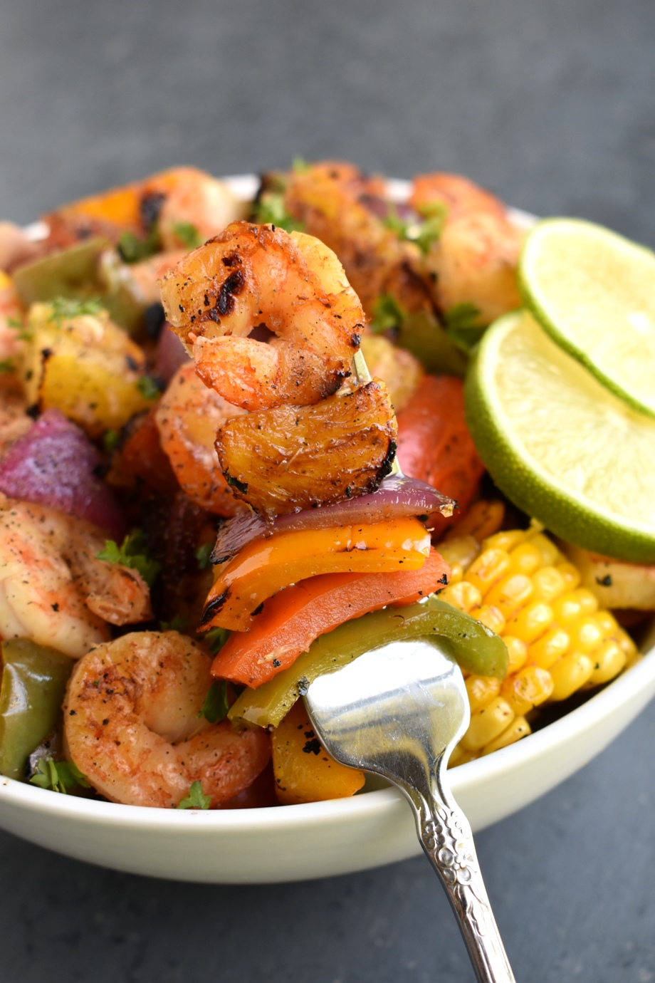 Grilled Honey Lime Shrimp and Vegetables