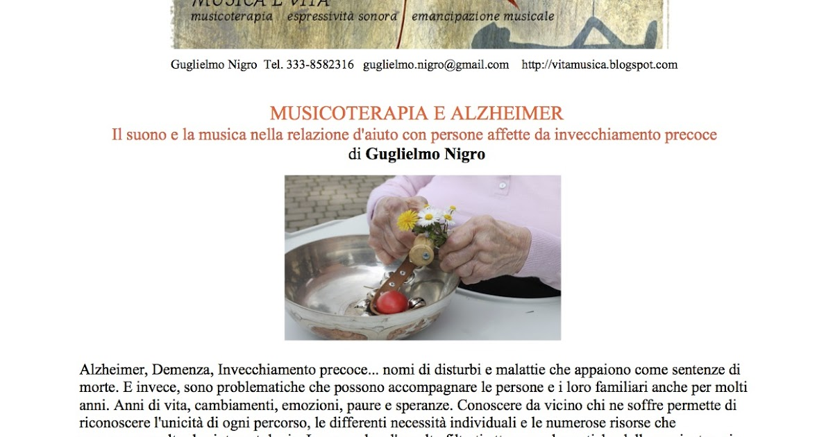 Musicoterapia e Alzheimer - Seminario presso la Libreria La Cicala di Merate (LC)