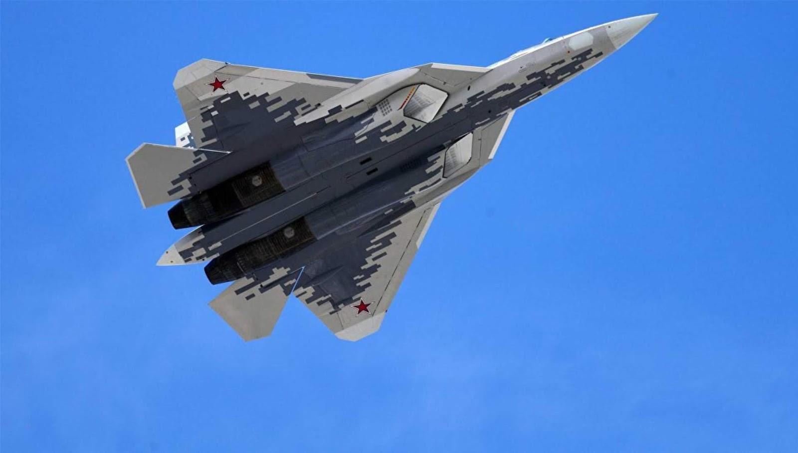 Manuver terbaru Su-57 direkam dari jarak dekat